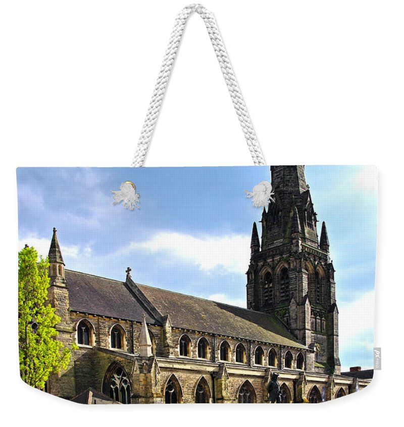 James Boswell Weekender Tote Bag featuring the photograph St Mary's Church At Lichfield by Rod Johnson