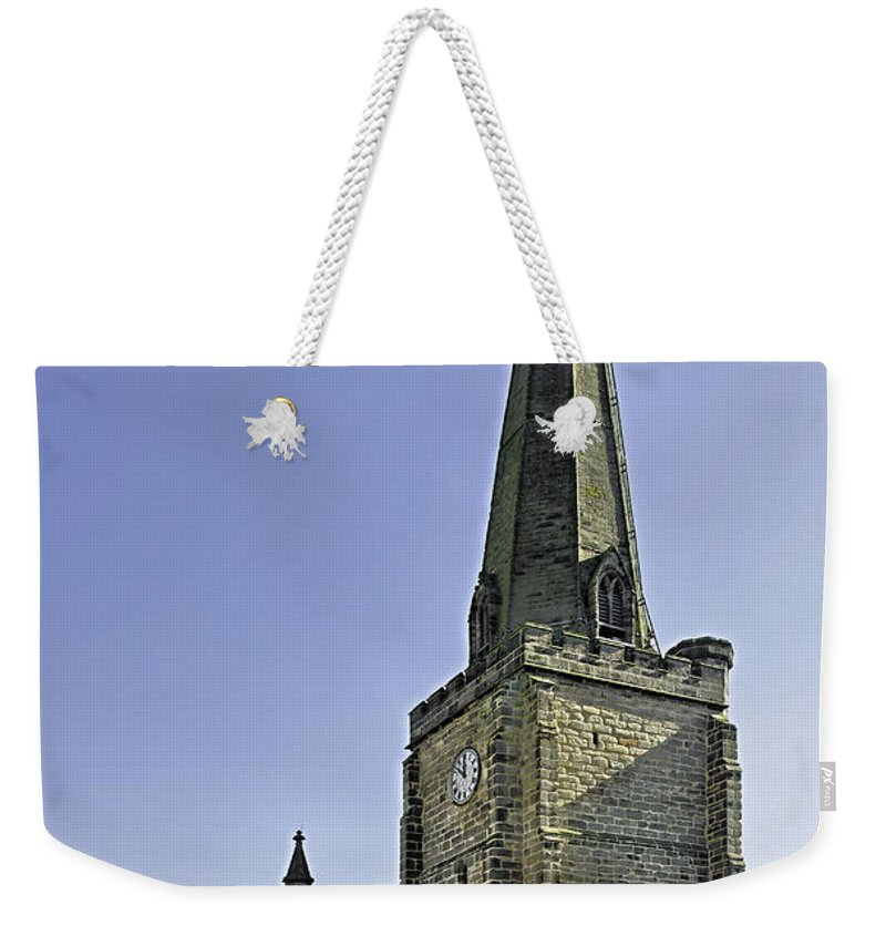 Uttoxeter Weekender Tote Bag featuring the photograph St Mary's Church At Uttoxeter by Rod Johnson