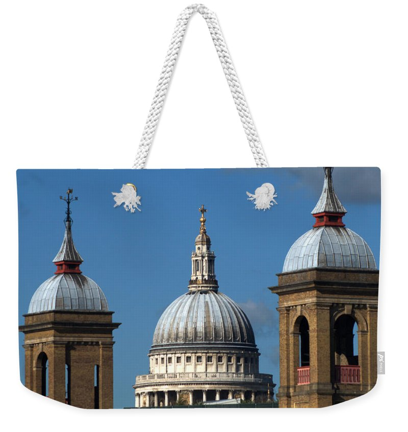 St Pauls Weekender Tote Bag featuring the photograph St Pauls An Alternate View by Chris Day