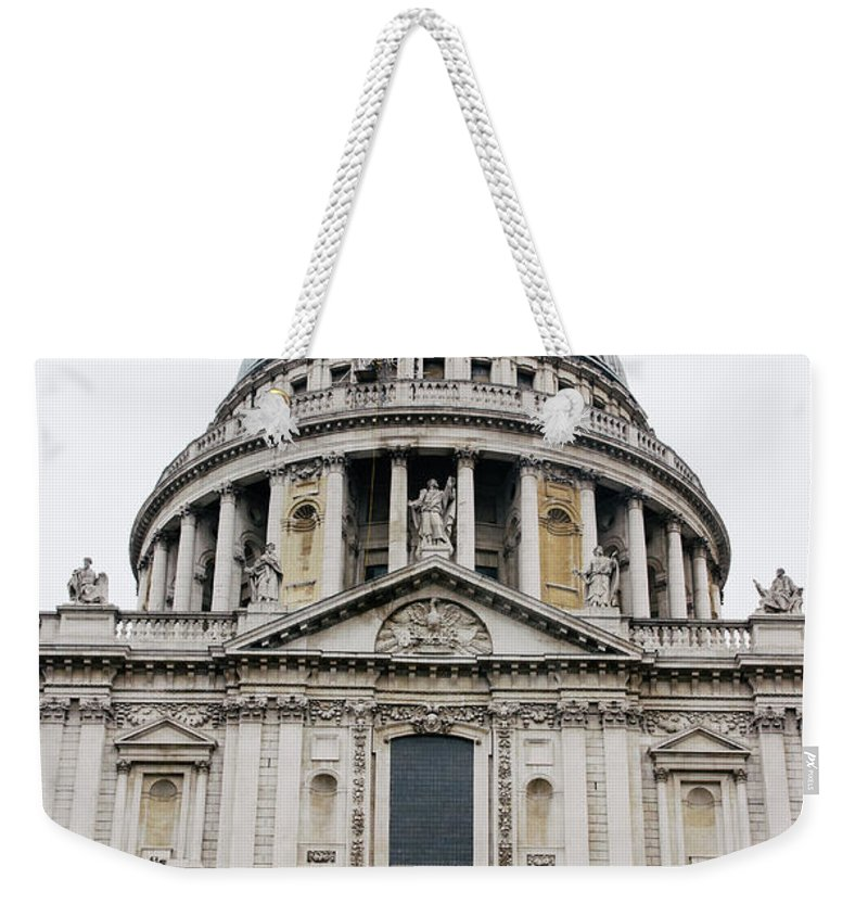 St Pauls Weekender Tote Bag featuring the photograph St Pauls Cathedral Closeup by Pati Photography