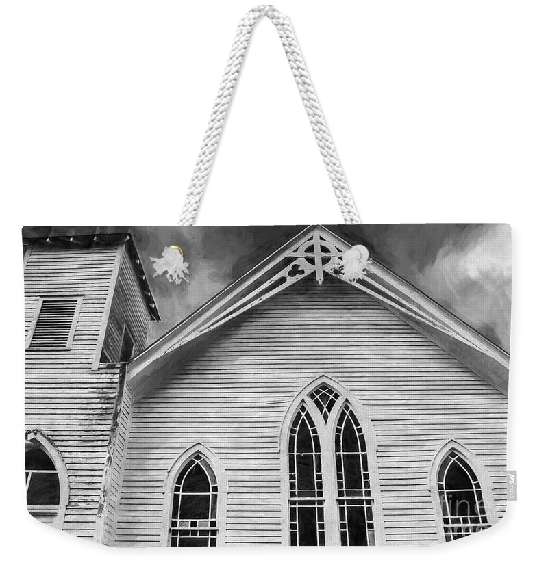 Church Weekender Tote Bag featuring the photograph St Peter United Methodist Church-digital Art by Kathleen K Parker