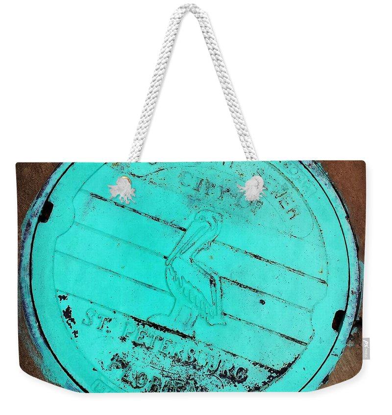 St Petersburg Weekender Tote Bag featuring the photograph St Petersburg Manhole by Valerie Reeves