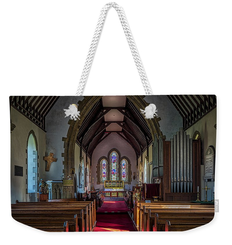 Norman Weekender Tote Bag featuring the photograph St Thomas Church, St Dogmaels by Mark Llewellyn