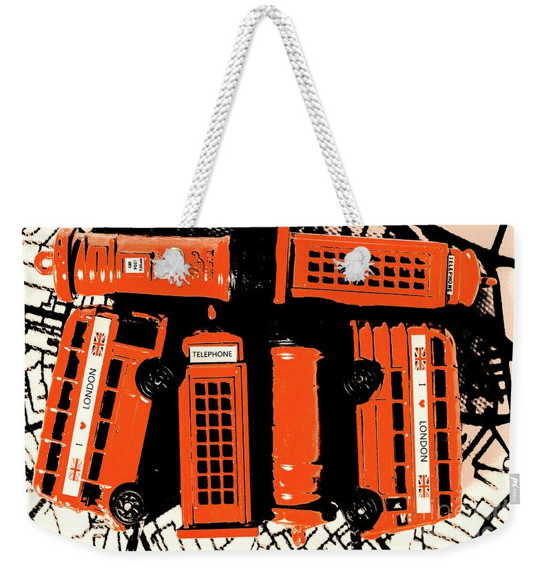 Retro Weekender Tote Bag featuring the photograph Stacking The Double Deckers by Jorgo Photography - Wall Art Gallery