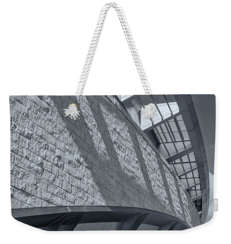 Joan Carroll Weekender Tote Bag featuring the photograph Stadium Abstract by Joan Carroll