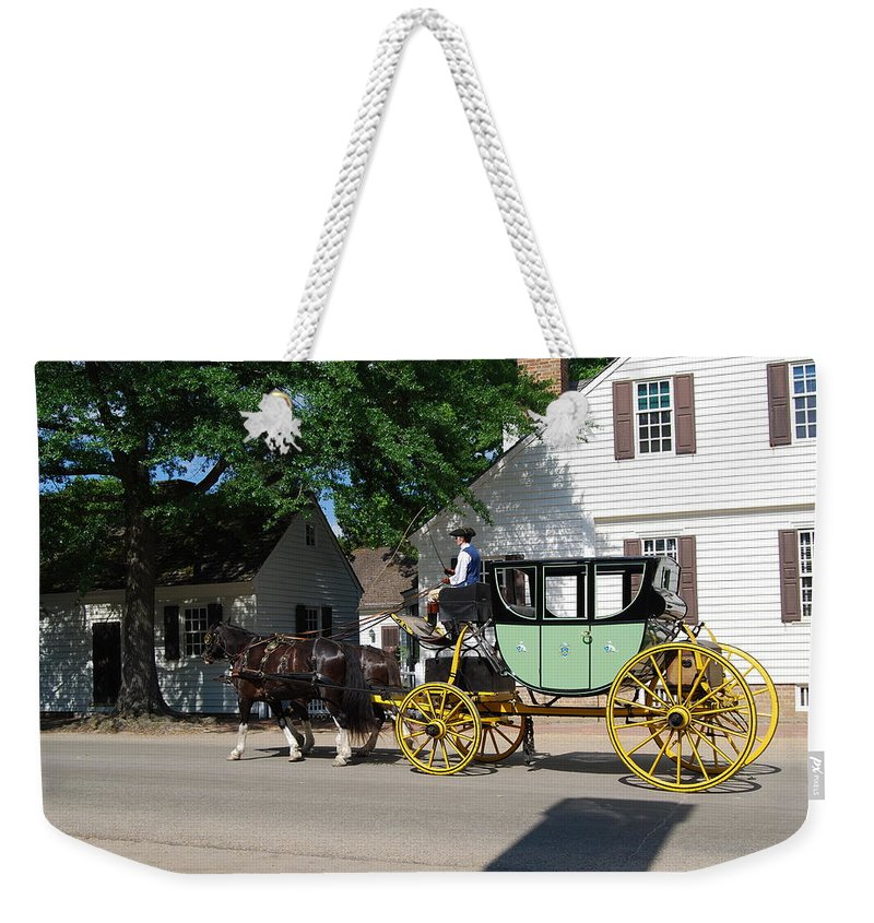 Stage Coach Weekender Tote Bag featuring the photograph Stage Coach by Eric Liller