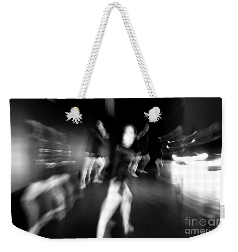Moden Dance Weekender Tote Bag featuring the photograph Stage Zoom - 1 by Scott Sawyer