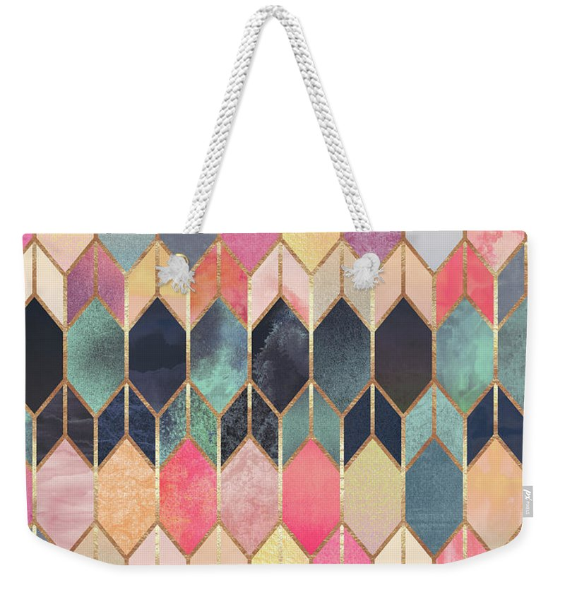 Graphic Weekender Tote Bag featuring the digital art Stained Glass 3 by Elisabeth Fredriksson