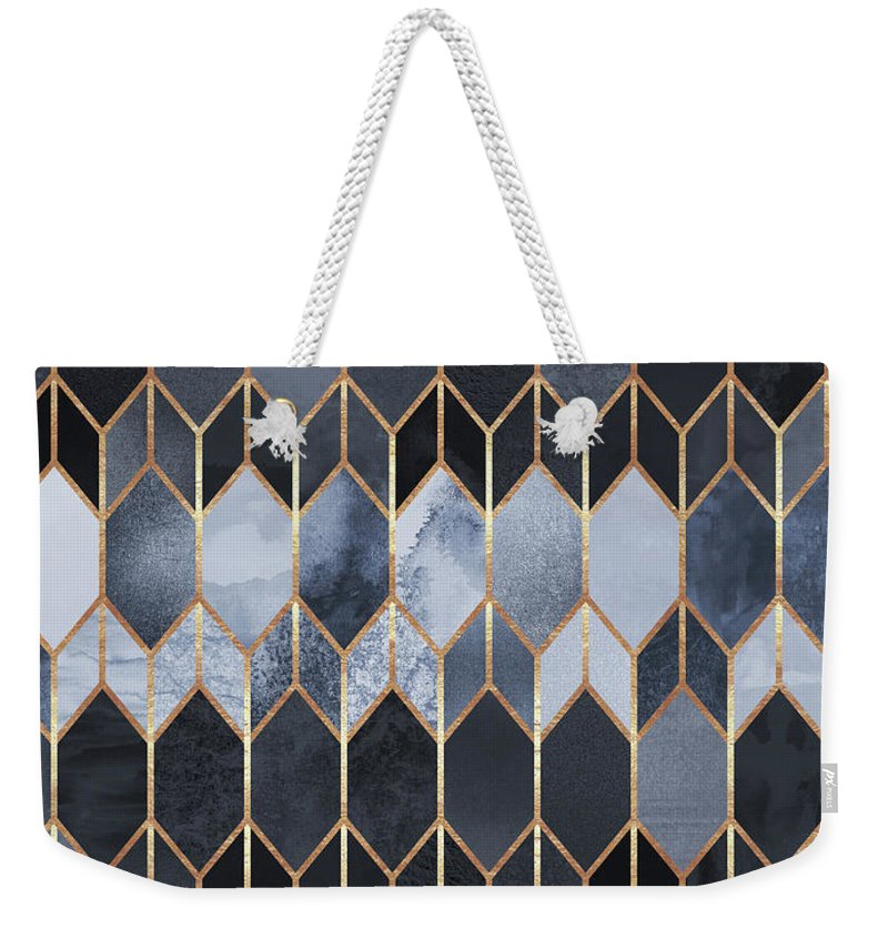 Graphic Weekender Tote Bag featuring the digital art Stained Glass 4 by Elisabeth Fredriksson