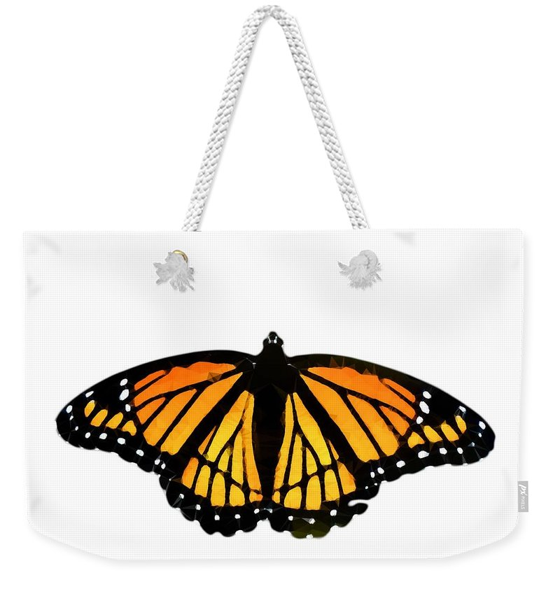 Butterfly Weekender Tote Bag featuring the photograph Stained Glass Wings by Heather Joyce Morrill