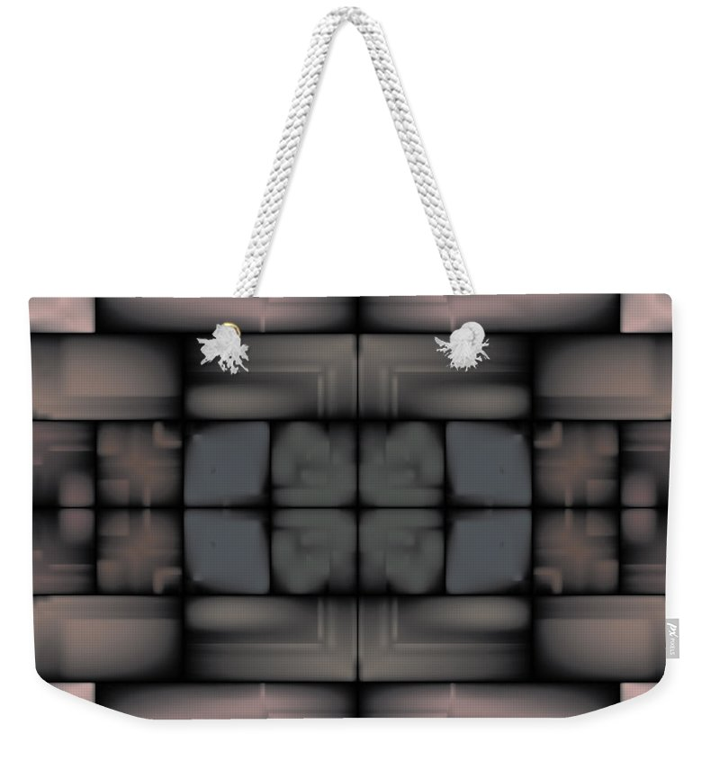 Stain Weekender Tote Bag featuring the digital art Stained Tile Tapestry by Kevin McLaughlin