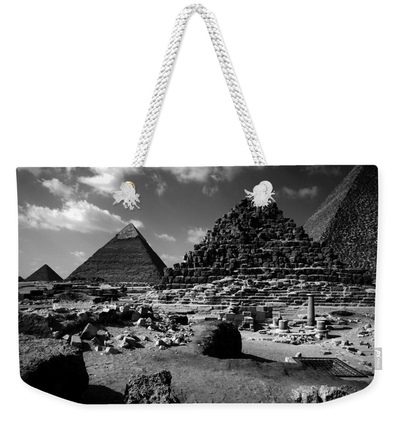 Pyramids Weekender Tote Bag featuring the photograph Stair Stepped Pyramids by Donna Corless