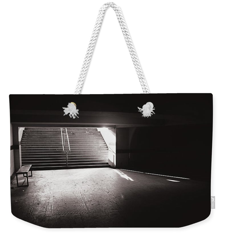 Krishnan Srinivasan Weekender Tote Bag featuring the photograph Stairs Of Hope by Krishnan Srinivasan