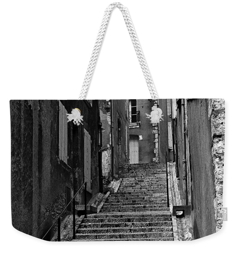 Stairs Weekender Tote Bag featuring the photograph Stairway In France by Madeline Ellis