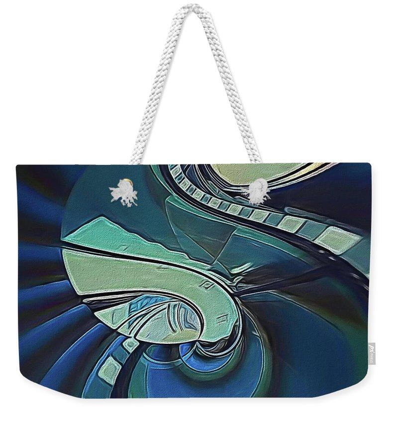 Abstract Weekender Tote Bag featuring the digital art Stairway by Linda Dunn