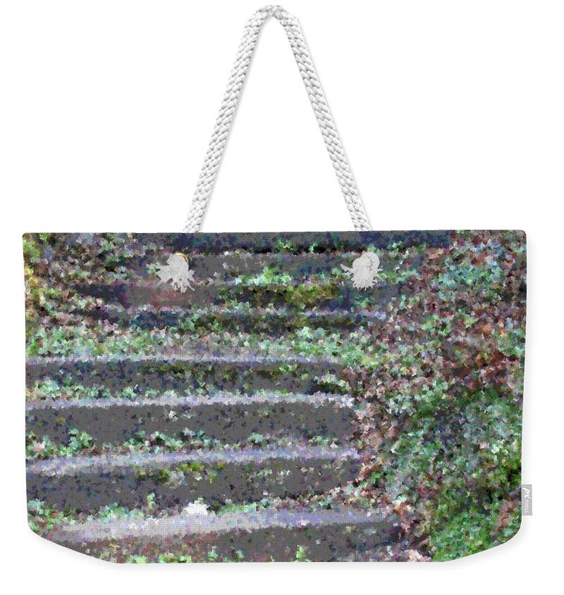 Stair Weekender Tote Bag featuring the digital art Stairway by Tim Allen