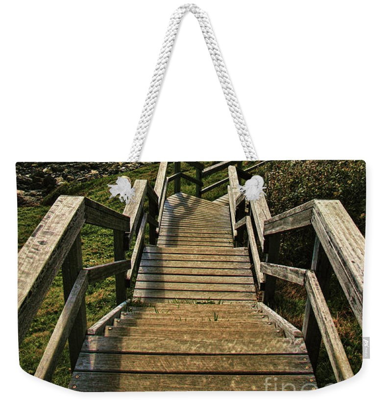 Stairway To Beach Weekender Tote Bag featuring the photograph Stairway To Beach by Kaye Menner