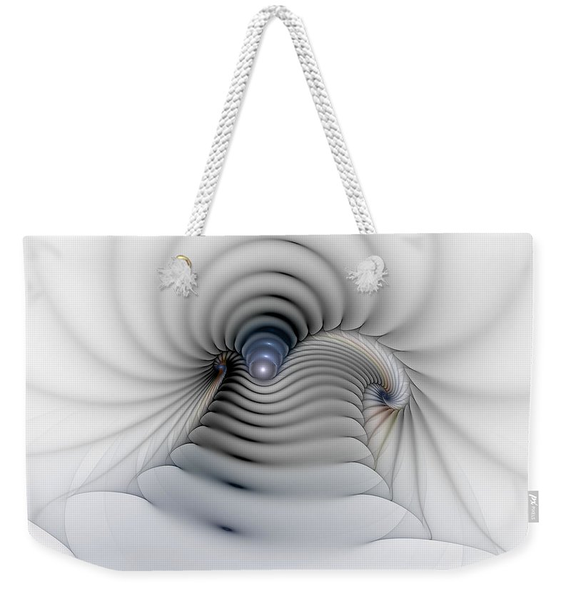 Abstract Weekender Tote Bag featuring the digital art Stairway To Heaven by Casey Kotas