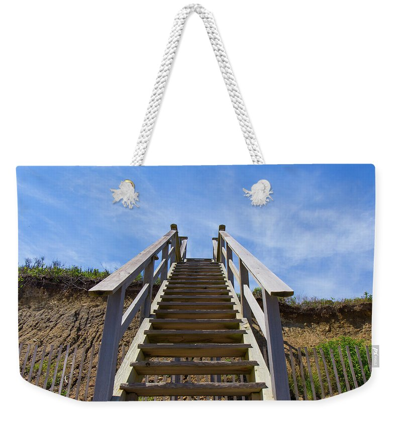 Beach Weekender Tote Bag featuring the photograph Stairway To Heaven by Justin Starr