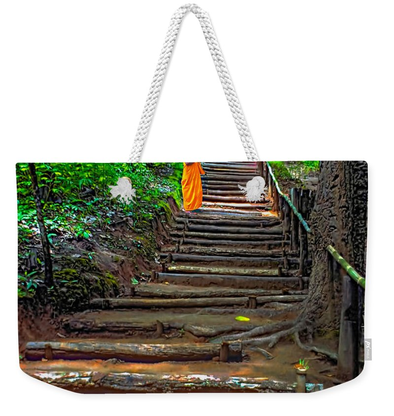 Jungle Weekender Tote Bag featuring the photograph Stairway To Heaven by Steve Harrington