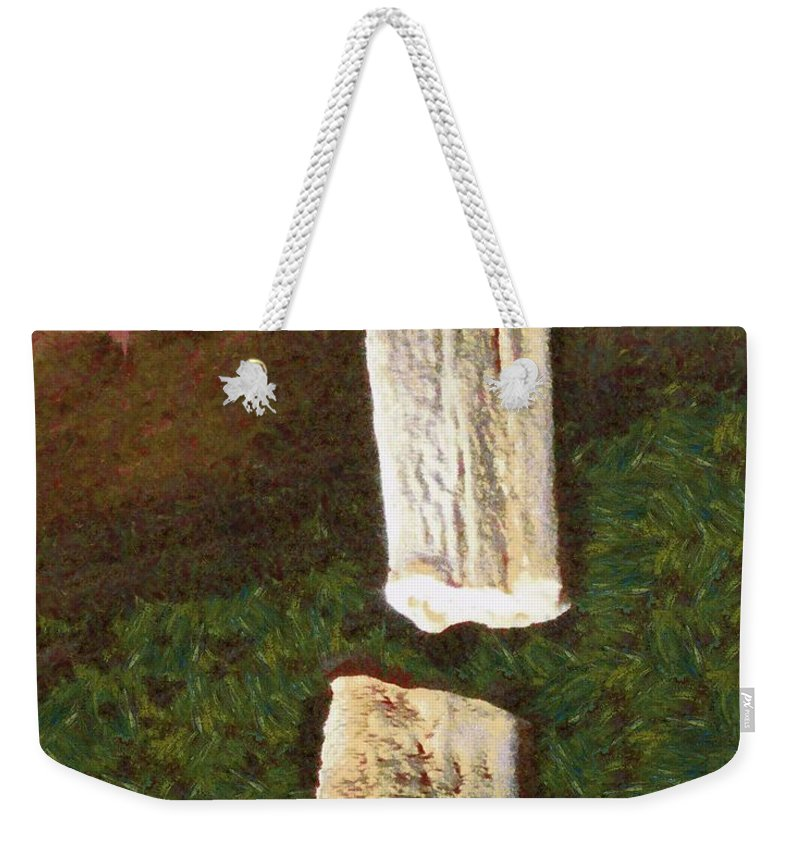 Art Weekender Tote Bag featuring the photograph Stalacites And Stalagmites In A Cave by Ashish Agarwal