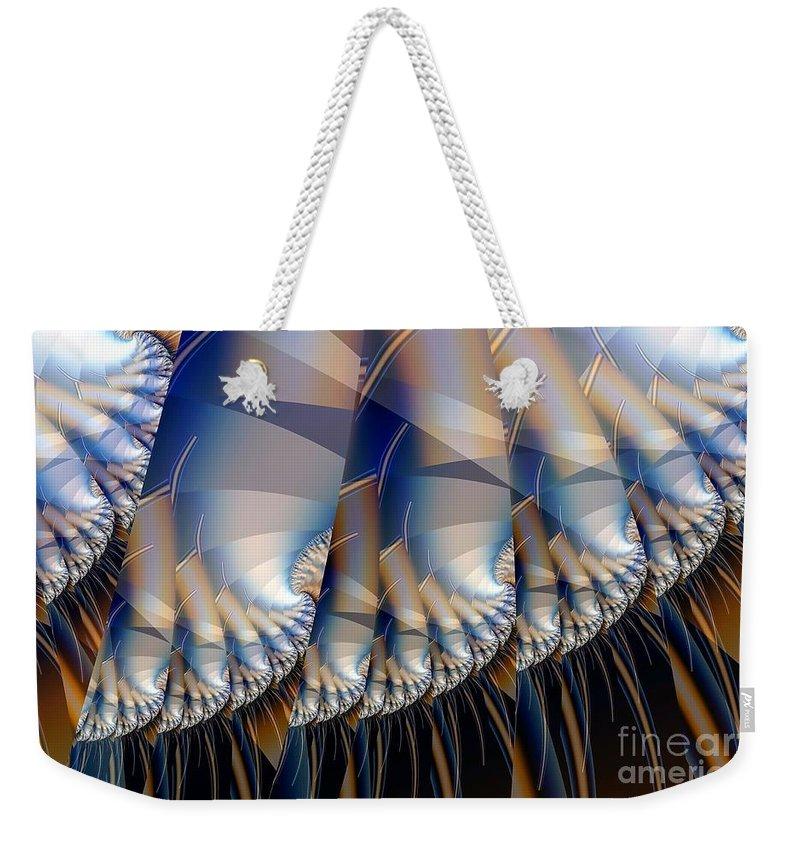 Hair Art Weekender Tote Bag featuring the digital art Stalks With Hair by Ron Bissett