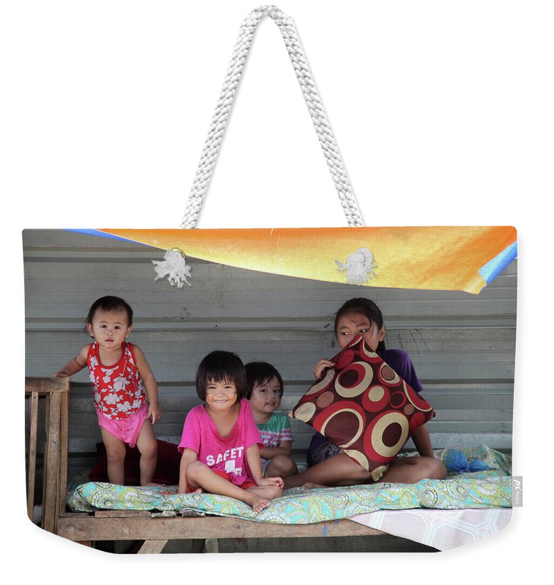 Mati Weekender Tote Bag featuring the photograph Stall Here by Jez C Self
