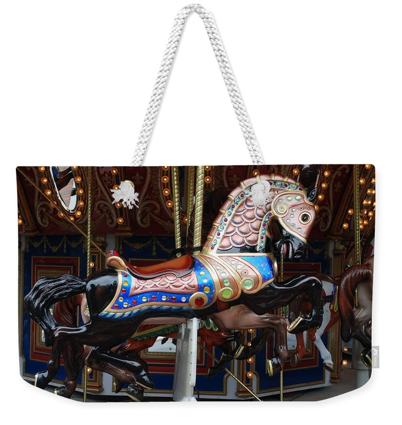 Pop Art Weekender Tote Bag featuring the photograph Stallion by Rob Hans