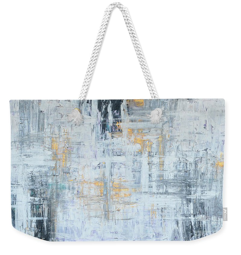Gold Weekender Tote Bag featuring the painting Stand Firm by Nadine Rippelmeyer