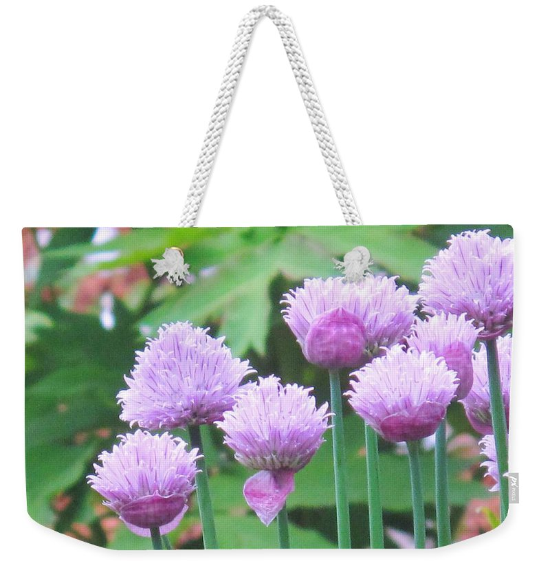 Flower Weekender Tote Bag featuring the photograph Stand Tall by Ian MacDonald