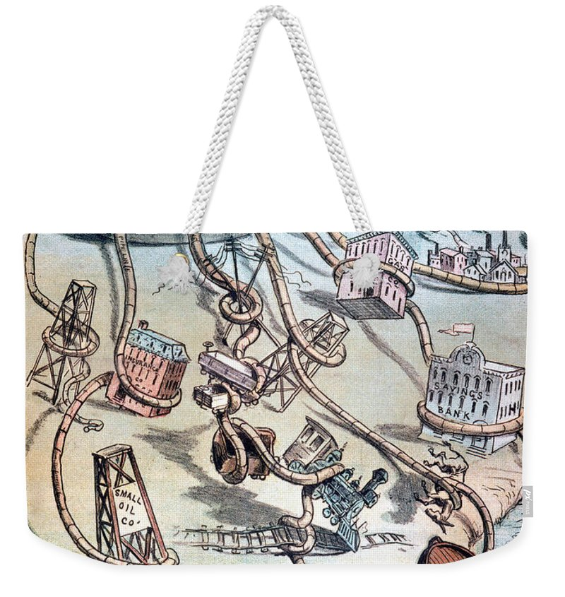 1884 Weekender Tote Bag featuring the photograph Standard Oil Cartoon by Granger