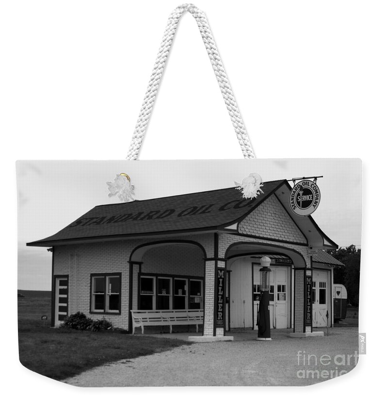 Kooldnala Weekender Tote Bag featuring the photograph Standard Station No 4 by Alan Look