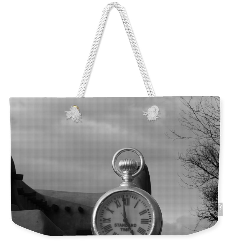 Black And White Weekender Tote Bag featuring the photograph Standard Time by Rob Hans