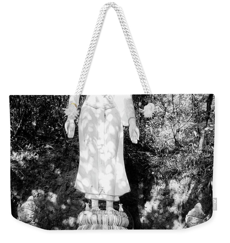 Buddha Weekender Tote Bag featuring the photograph Standing Buddha by Dominic Piperata