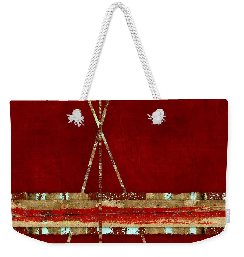 Standing Ground Weekender Tote Bag featuring the photograph Standing Ground Square Format by Carol Leigh