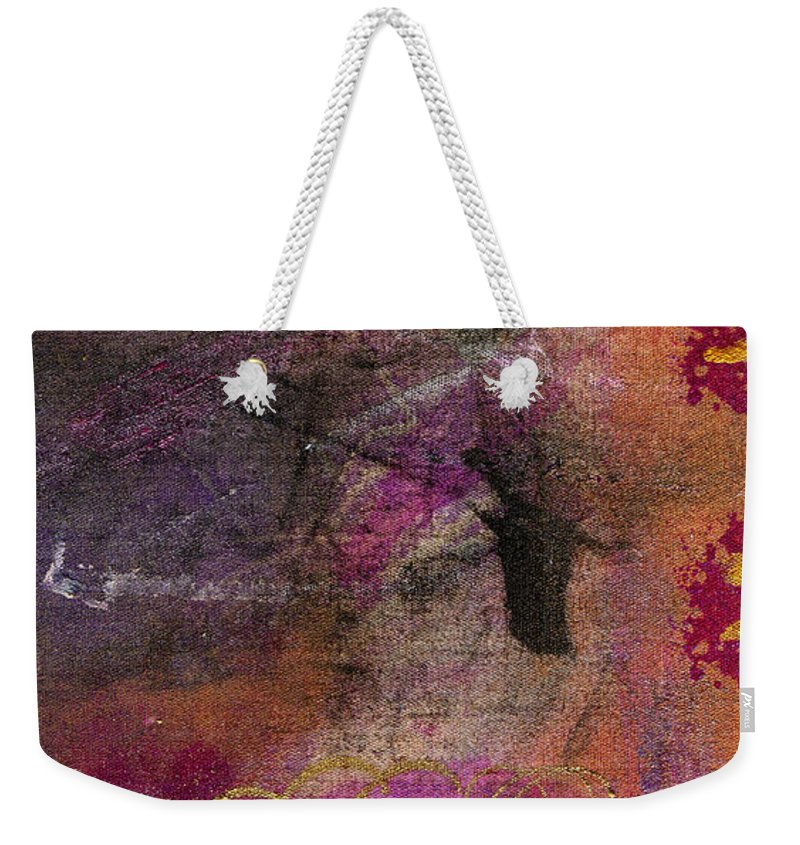 Woman Weekender Tote Bag featuring the mixed media Standing In The Wind by Angela L Walker