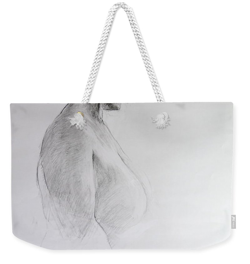 Life Weekender Tote Bag featuring the drawing Standing Nude by Harry Robertson