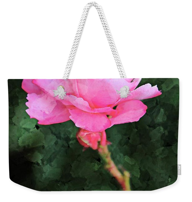 Oleander Weekender Tote Bag featuring the photograph Standing On My Own by Clare Bevan