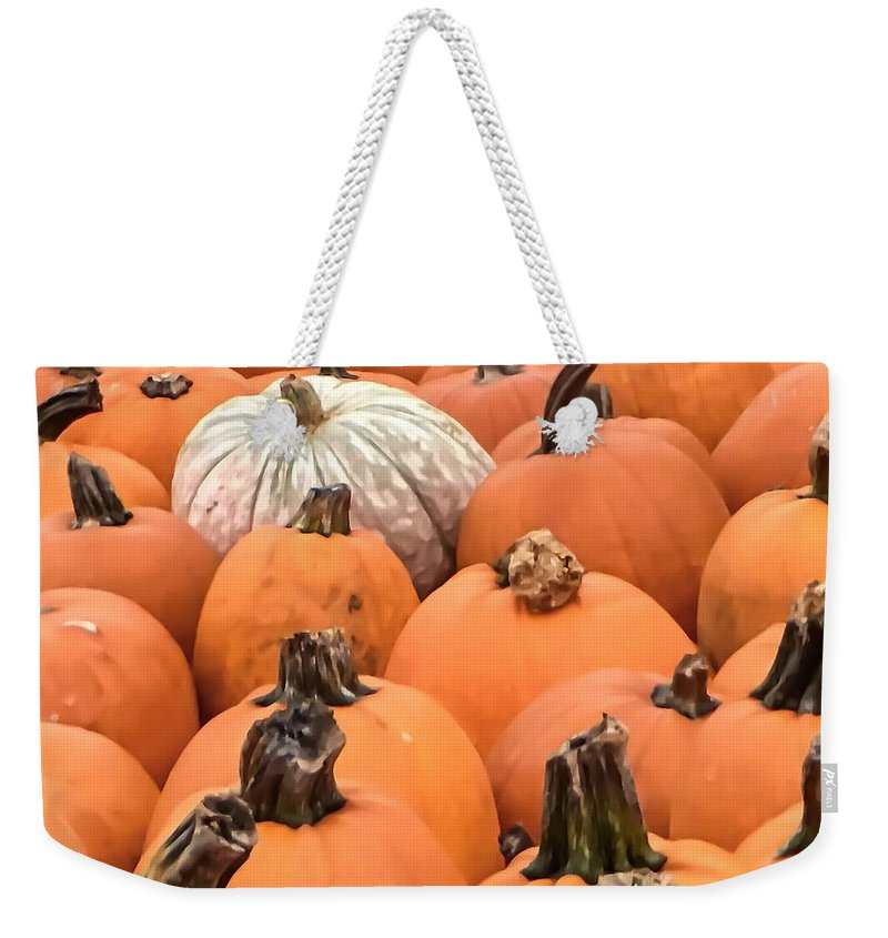 Pumpkins Weekender Tote Bag featuring the photograph Standout by Denise DuFresne