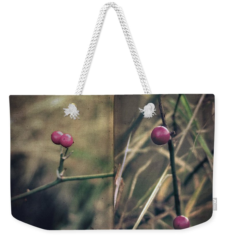 Woods Weekender Tote Bag featuring the photograph Stanza by Zapista
