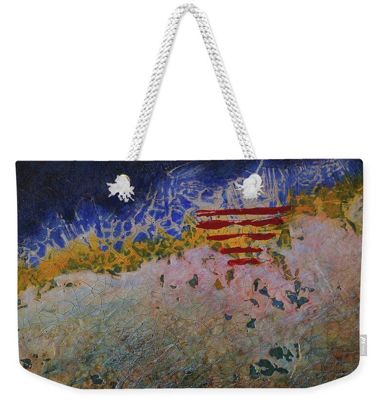 Painting Weekender Tote Bag featuring the painting Staple by Jean-luc Lacroix