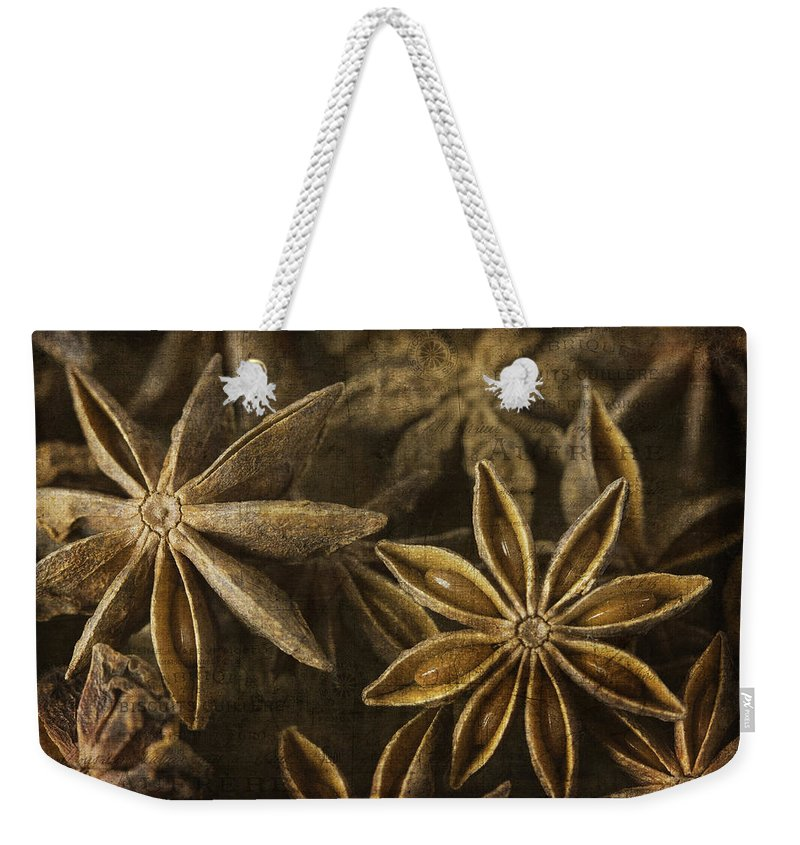 Cindi Ressler Weekender Tote Bag featuring the photograph Star Anise by Cindi Ressler