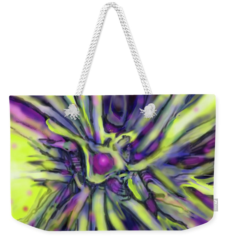 Abstract Weekender Tote Bag featuring the digital art Star Burst by Ian MacDonald
