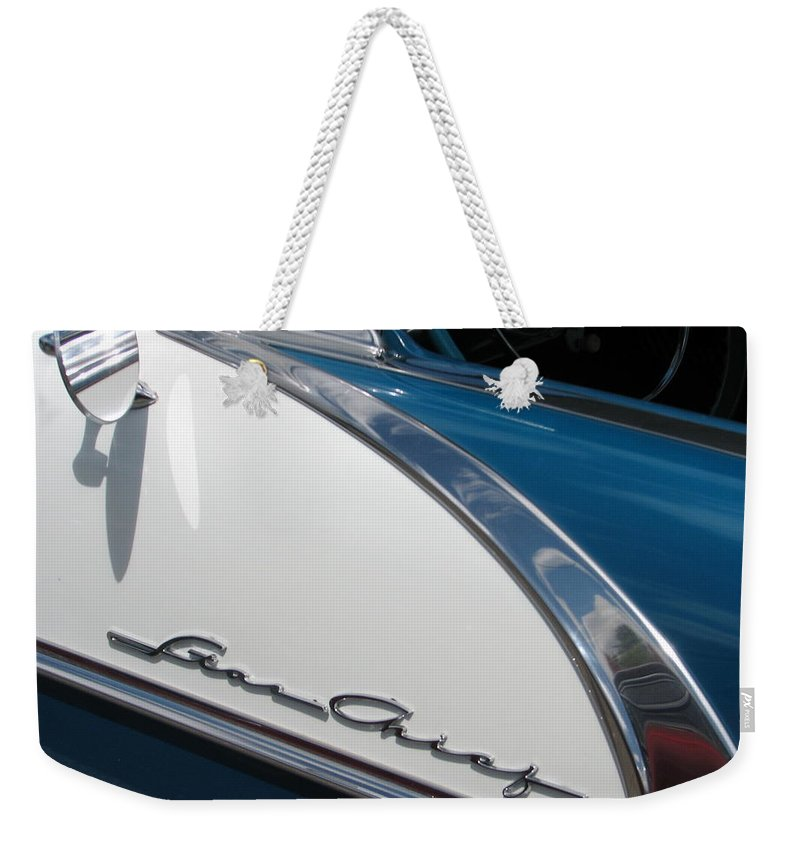 Pontiac Weekender Tote Bag featuring the photograph Star Chief II by Kelly Mezzapelle