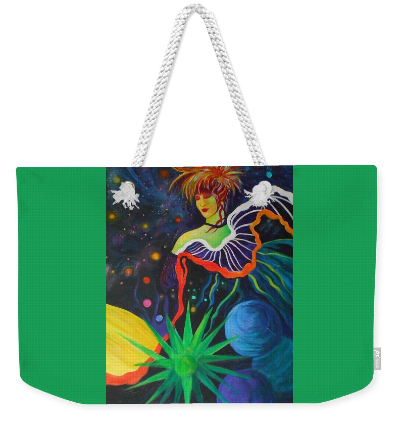 Dancer Weekender Tote Bag featuring the painting Star Dancer by Carolyn LeGrand