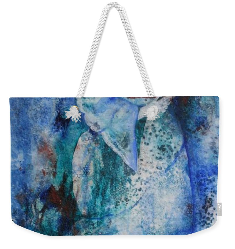Abstract Weekender Tote Bag featuring the painting Star Dancer by Jean Blackmer