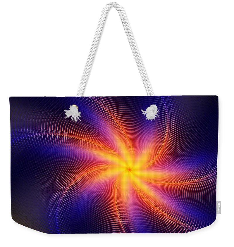 Digital Painting Weekender Tote Bag featuring the digital art Star Daze by David Lane