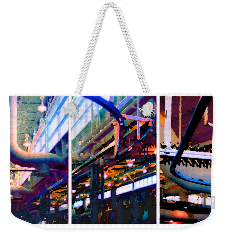 Abstract Weekender Tote Bag featuring the photograph Star Factory by Steve Karol