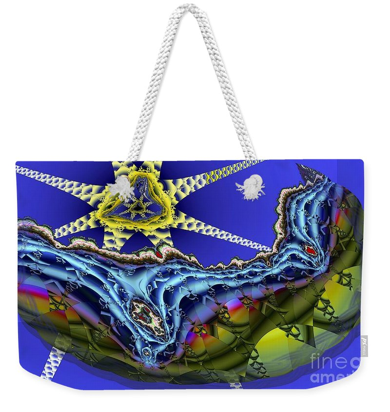Star Fish Weekender Tote Bag featuring the digital art Star Fish by Ron Bissett
