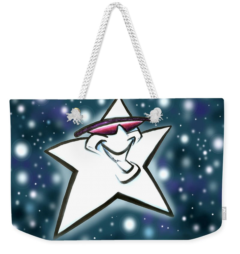 Star Weekender Tote Bag featuring the digital art Star by Kevin Middleton